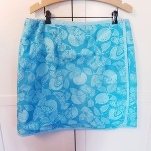 Lilly Pulitzer reversible skirt size 14 butterfly